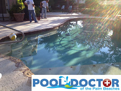 Custom Pool and Deck West Palm Beach FL - Before and During