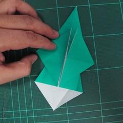 วิธีพับกระดาษเป็นรูปหมู (Origami Pig) 003