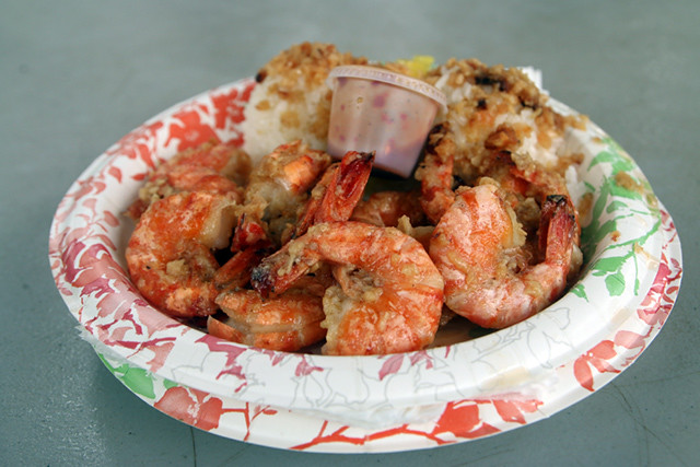 The Hawaii shrimp plate!