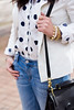 polka dot shirt, white blazer, boyfriend denim-5.jpg by LyddieGal