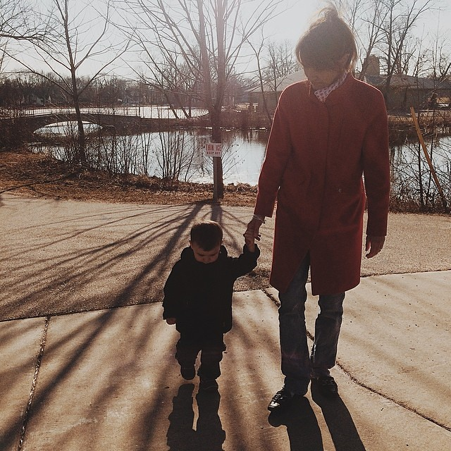 Walking with Nana. #toddler #instaluther #grandmother