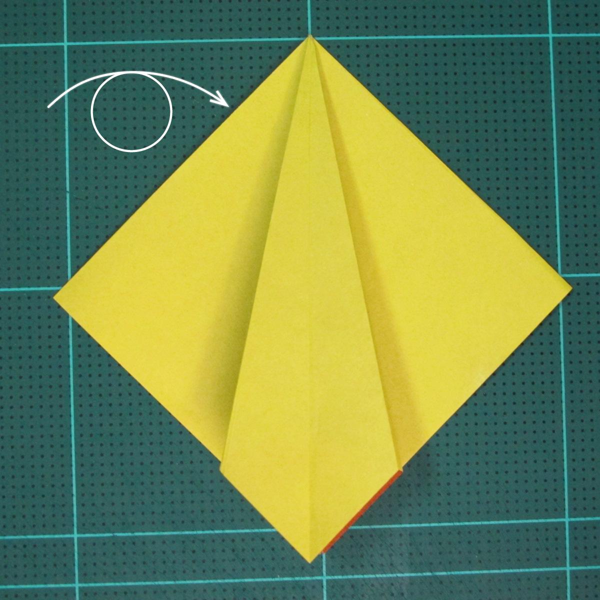 วิธีพับกระดาษเป็นรูปนกยูง (Origami Peacock - ピーコックの折り紙) 015