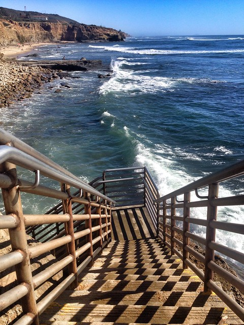 Stairs and sea.