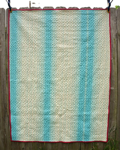 Jelly Roll Race Quilt Back