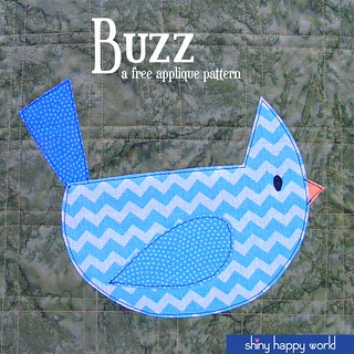 Buzz - free bird applique pattern