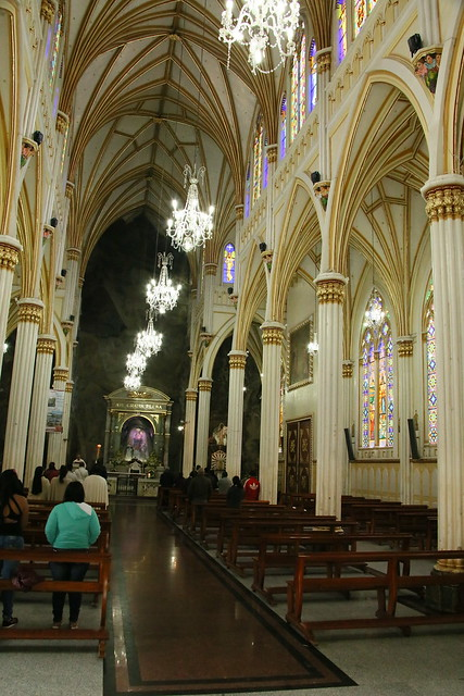 Inside the Church at Ipales, Colombia.