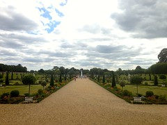 Formal garden at Hampton Court Palace