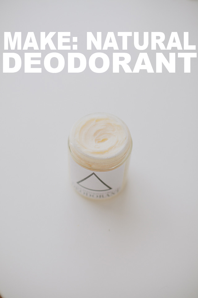 DIY Natural Deodorant using essential oils