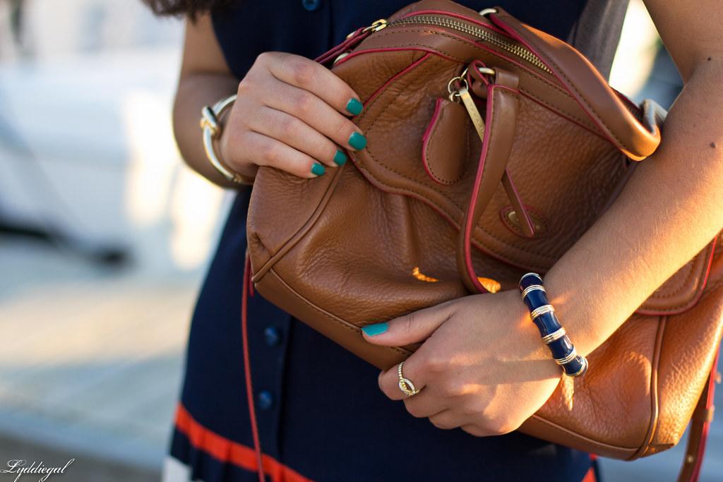drop waist striped nautical dress, brown bag and sandals-7.jpg