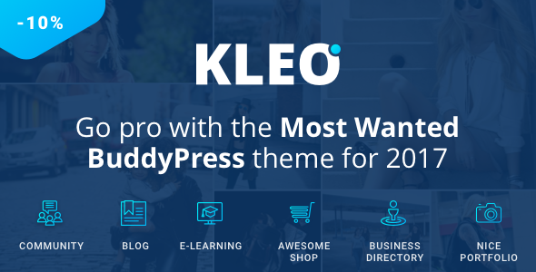KLEO v4.2.7 – Pro Community Focused, Multi-Purpose BuddyPress Theme