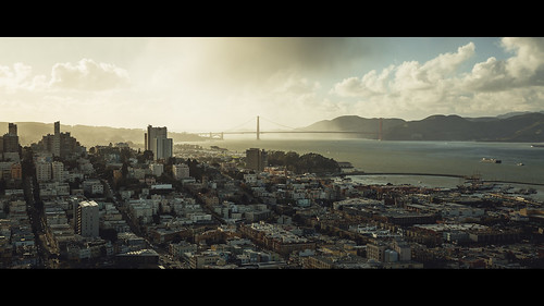 sunset sanfrancisco bay goldenbridge goldengate cinematic canon canoneos5dmarkiii