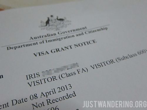 australian tourist visa - Australian Visa Application Cover Letter