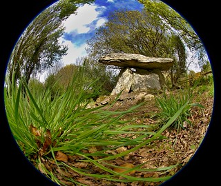 dolmen by fish eye