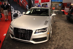 sports car(0.0), automobile(1.0), automotive exterior(1.0), audi(1.0), exhibition(1.0), executive car(1.0), audi a7(1.0), wheel(1.0), vehicle(1.0), automotive design(1.0), auto show(1.0), audi s8(1.0), audi sportback concept(1.0), bumper(1.0), land vehicle(1.0), luxury vehicle(1.0),