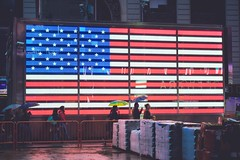 Star Spangled Banner in Times Square
