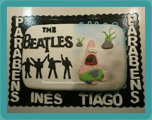 Bolo Beatles e Patrick Sponge Bob by Osbolosdasmanas