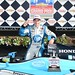 Simon Pagenaud celebrates in Victory Circle