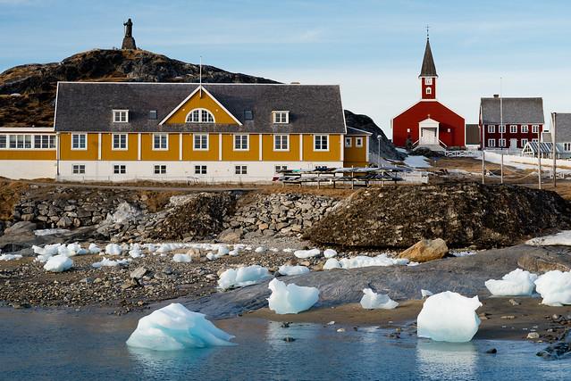 Vista de Nuuk, capital de Groenlandia.