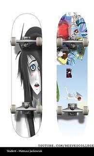 Skateboard Deck Design Adobe Illustrator CS6 by Reeves College Student Mateusz J