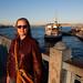 Anne on the Galata Bridge at Dusk