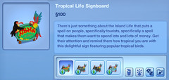 Tropical Life Signboard