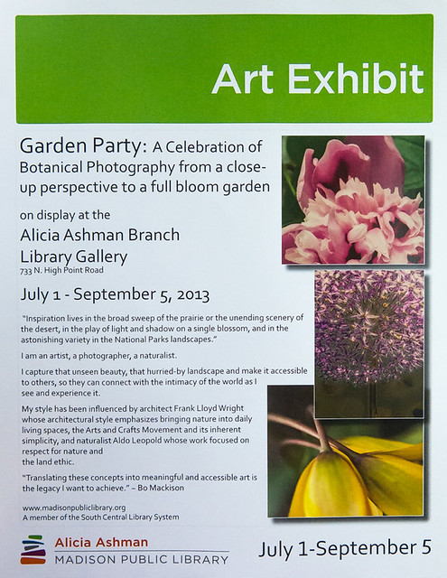 Photo Exhibit Poster - Alicia Ashman Library