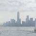 Panorama of New York City from New York Harbor on a Rainy Day by Adrian Cabrero (Mustagrapho)
