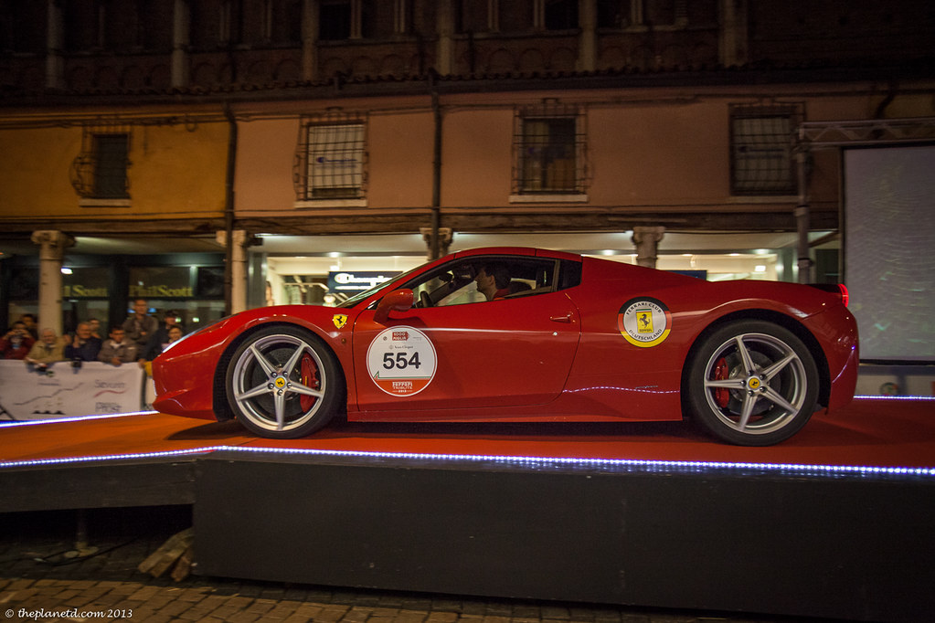 Ferarri on the Mille Miglia