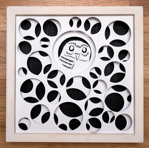 Circles and Animals- Grumpy Owl Paper Cut