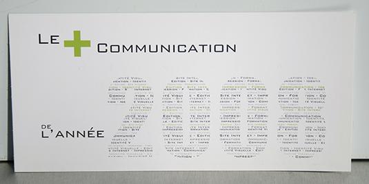 Création de cartes de voeux pour la société Communic'Action à Périgueux.