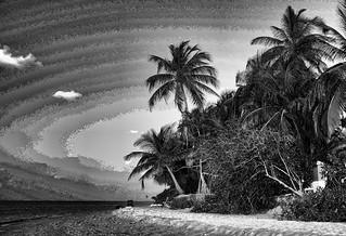 Изображение Angaga Beach Пляж длиной 447 м. landscapes blackwhite beaches maldives photoshop7 mdv ariatoll angaga topazlabs
