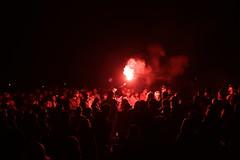 Red flare Glastonbury festival 2013 (Stone Circle)