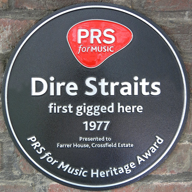 Photo of Dire Straits black plaque