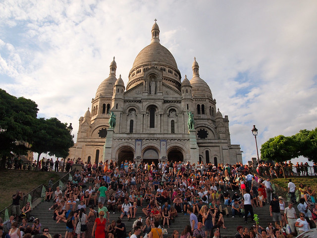 Sacre Coeur at sunset
