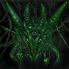 Green Goat head