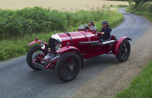Cars that Rock. Brian Johnson of AC/DC in the first supercharged  Bentley FR5189 being filmed for Quest TV
