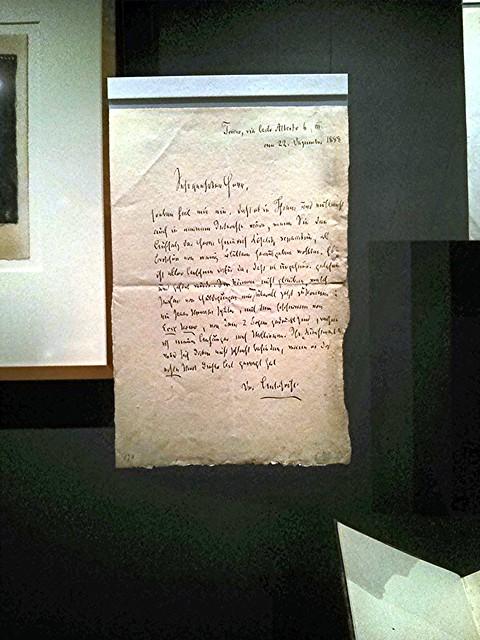 Brief von Nietzsche