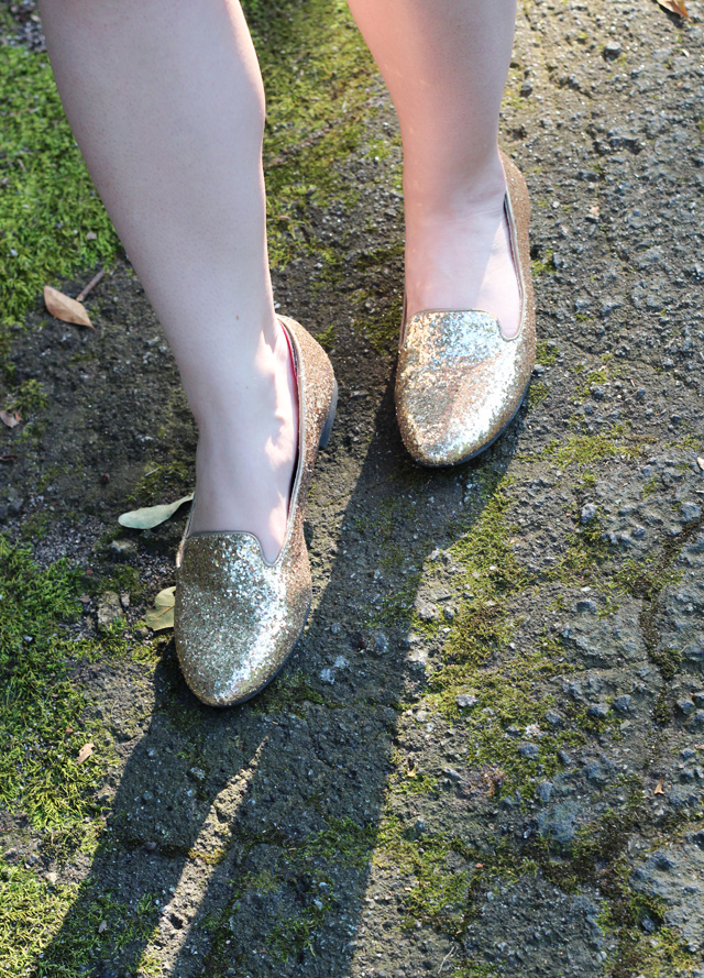 Sparkly Gold Loafers