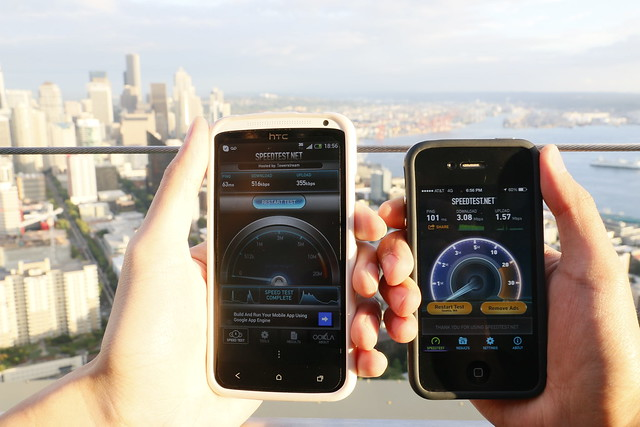 AT&T vs T-mobile at Space Needle