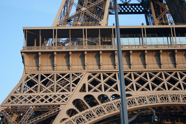 Names on the Eiffel Tower