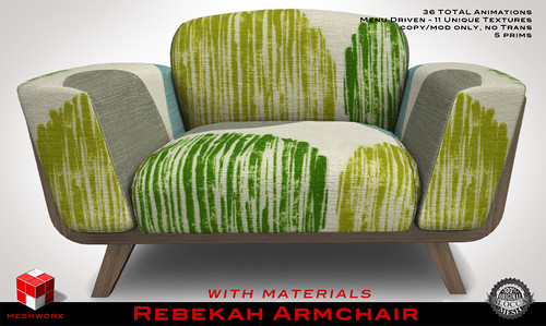 MESHWORX Rebekah Armchair  in Contempo Fabric at FaMeshed October