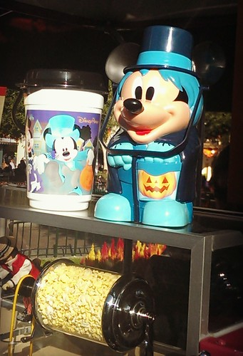 Popcorn in Halloween themed buckets