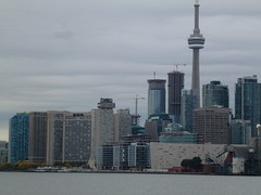 Distant Toronto skyline, viewed from the Port Lands, 2013 10 05 (12)