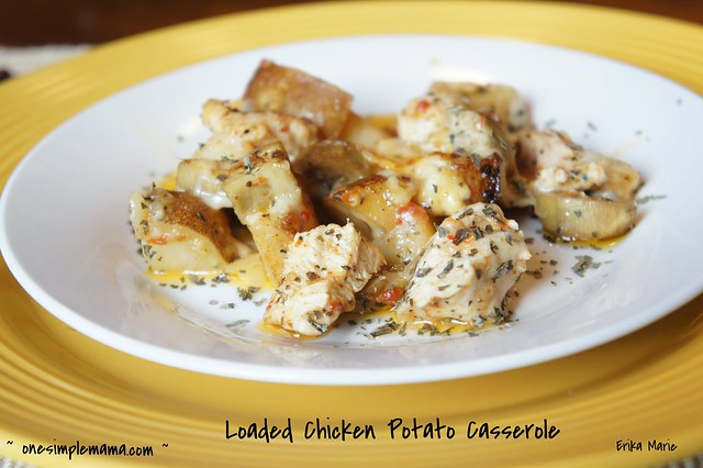 Loaded Chicken Potato Casserole