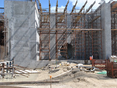 reinforced concrete, wall, iron, construction,