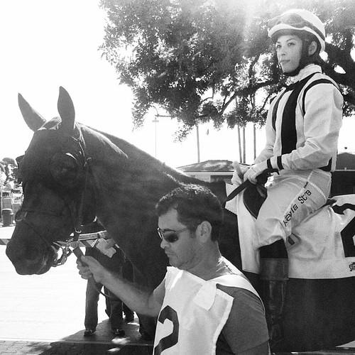 Kayla Stra and Sir Hamilton #santaanitapark #ABRLive