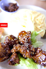 Coffee Pork Ribs Rice Set (咖啡排骨饭)