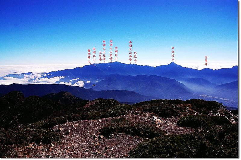 北一段群山(From 雪山頂)