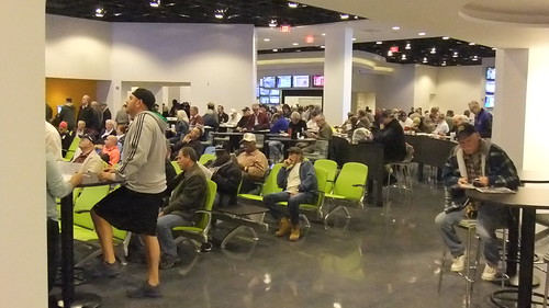 November 18, 2013 New Meadowlands Racetrack On Opening Day First Floor Simulcast Area