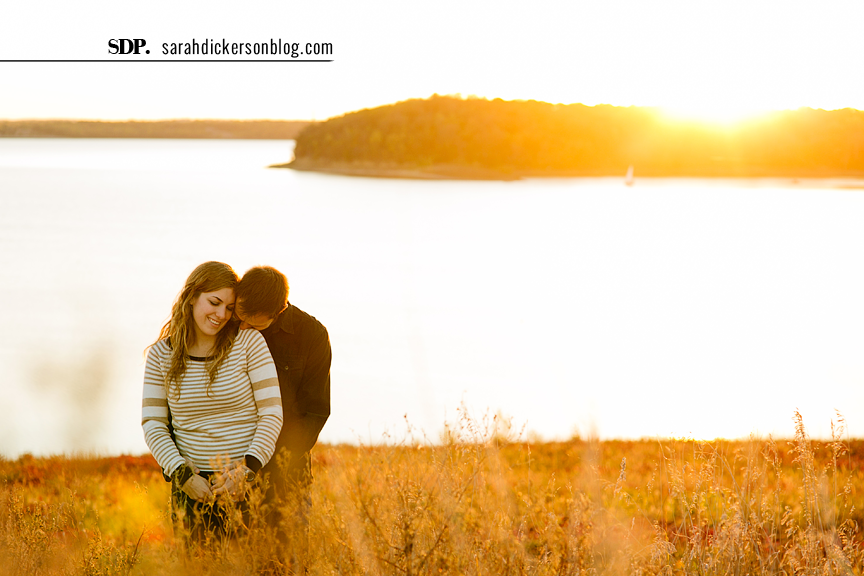 Clinton Lake engagement session